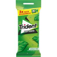 Chicle de hierbabuena TRIDENT Senses, pack 3x23 g