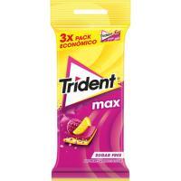 Chicle Max de frambuesa-limón sticks TRIDENT, pack 3x23 g
