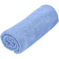 Toalla de ducha azul 100% algodón 380gr/m2 EROSKI, 70x120cm