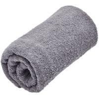 Toalla de lavabo gris oscuro 100% algodón 380gr/m2 EROSKI, 50x80cm