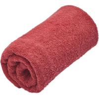 Toalla de lavabo roja 100% algodón 380gr/m2 EROSKI, 50x80cm