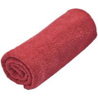Toalla de ducha roja 100% algodón 380gr/m2 EROSKI, 70x120cm
