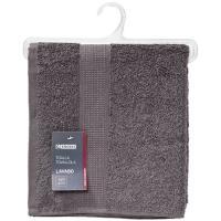 Toalla de lavabo gris antracita 100% algodón 420gr/m2 EROSKI, 50x90cm