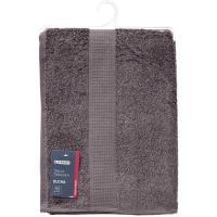 Toalla de ducha gris antracita 100% algodón 420gr/m2 EROSKI, 70x130cm