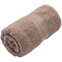 Toalla de ducha marron 100% algodón 420gr/m2 EROSKI, 70x130cm