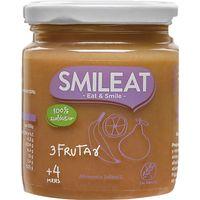 Tarrito 3 frutas ecológicas SMILEAT, tarro 230 g
