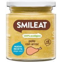 Potito de pollo con arroz ecológico SMILEAT, tarro 230 g