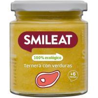Potito de ternera con verduras ecológicas SMILEAT, tarro 230 g