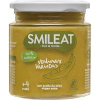 Tarrito de verduras variadas ecológicas SMILEAT, tarro 230 g