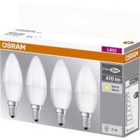 Bombilla Led vela E14 5,5W luz cálida (2700k)OSRAM, 4 uds