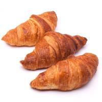 Croissant de mantequilla reducido azúcar EROSKI, bandeja 3 unid.