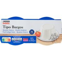 Queso de Burgos EROSKI basic, pack 2x250 g