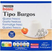 Queso de Burgos EROSKI basic, pack 4x62,5 g