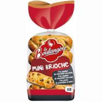 Mini brioche con pepitas de choco LA BOULANGERE, paquete 280 g