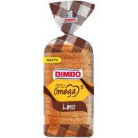 Pan de molde con omega 3 BIMBO, paquete 450 g