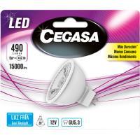 Bombilla Led GU5,3 6W luz fría (5000k) CEGASA, 1ud