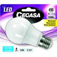 Bombilla Led estándar E27 6W luz fría (5000k) CEGASA, 1 ud