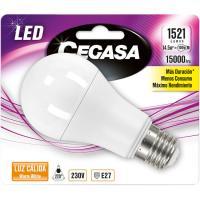 Bombilla Led estándar E27 14,5W luz cálida (2700k) CEGASA, 1ud