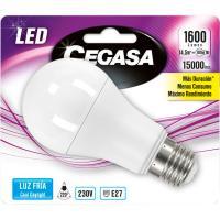 Bombilla Led estándar E27 14,5W luz fría (5000k) CEGASA, 1ud