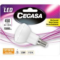 Bombilla Led reflectora R50 E14 6W luz cálida (2700k) CEGASA, 1 ud