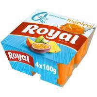 Gelatina tropical 10 kcal 0% azúcar añadido ROYAL, pack 4x100 g