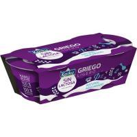 Yogur griego natural sin lactosa KAIKU, pack 2x90 g