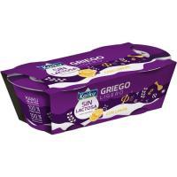 Preparado lácteo griego  sin lactosa de limón KAIKU, pack 2x90 g