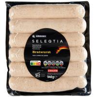 Salchicha Bratwurst Eroski SELEQTIA, sobre 540 g