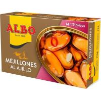 Mejillón al ajillo 15/19 piezas ALBO, lata 115 g