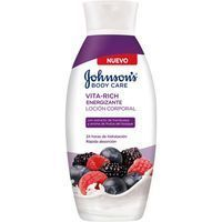 Loción corporal de frutos rojos JOHNSON`S Vitarich, bote 400 ml