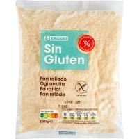 Pan rallado sin gluten EROSKI, paquete 200 g