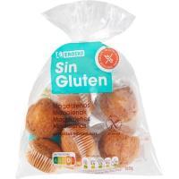 Magdalenas sin gluten EROSKI, 6 unid., bolsa 180 g