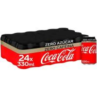 Refresco de cola COCA COLA Zero Zero, pack 24x33 cl