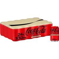 Refresco de cola COCA COLA Zero Zero, pack 24x33 cl