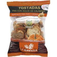 Pan tostado con dulce de calabaza LA GAVILLA, bolsa 100 g
