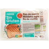 Pan de molde sin gluten EROSKI, paquete 350 g