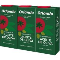 Tomate frito en aceite de oliva ORLANDO, pack 3x350 g