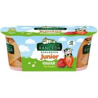Yogur junior eco de fresa CASA GRANDE DE XANCEDA, pack 2x125 g
