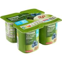 Biactive 0% azúcar 0% mg con lino-arándanos EROSKI, pack 4x125 g
