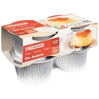 Flan de huevo EROSKI, pack 4x100 g