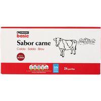 Caldo de carne 24 pastillas EROSKI basic, caja 228 g