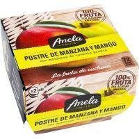 Postre de manzana y mango ANELA, pack 2x100 g