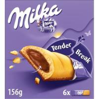 Barrita de choco MILKA, 6 unid., caja 162 g