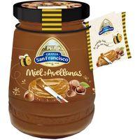 Miel con avellanas GRANJA SAN FRANCISCO, frasco 220 g