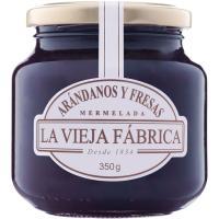 Mermelada de arándanos-fresa LA VIEJA FÁBRICA, frasco 350 g