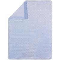 Manta de bebé de color azul, tacto extrasuave INTERBABY, 80X110cm
