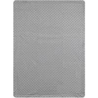 Manta de bebé de color gris, tacto extrasuave INTERBABY, 80X110cm