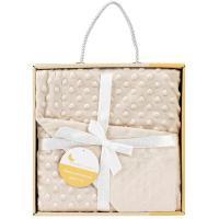 Manta de bebé de color beige, tacto extrasuave INTERBABY, 80X110cm