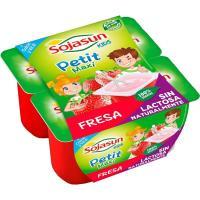 Petit de soja-fresa-frambuesa SOJASUN, pack 4x90 g