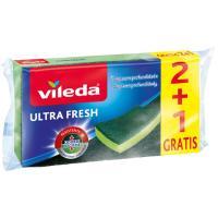 Estropajo ultra fresh VILEDA, pack 3 unid.